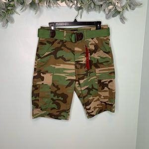 Levi's Camo Fort Cargo Short with Belt